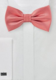 Matte Woven Bow Tie in Coral