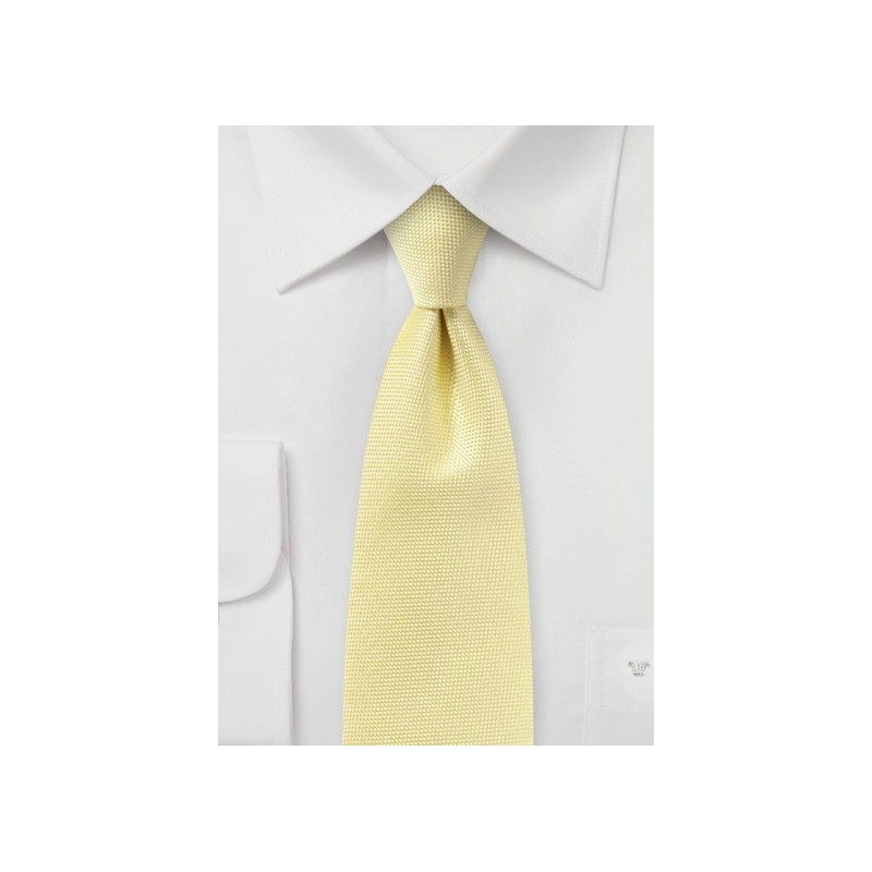 Pastel Yellow Textured Tie