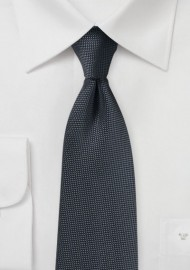 Solid Matte Texture Tie in Charcoal