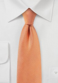 Solid Matte Fabric Finish Tie in Tangerine