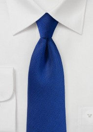 Matte Woven Tie in Marine Blue