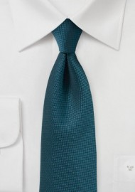 Teal Matte Finish Tie