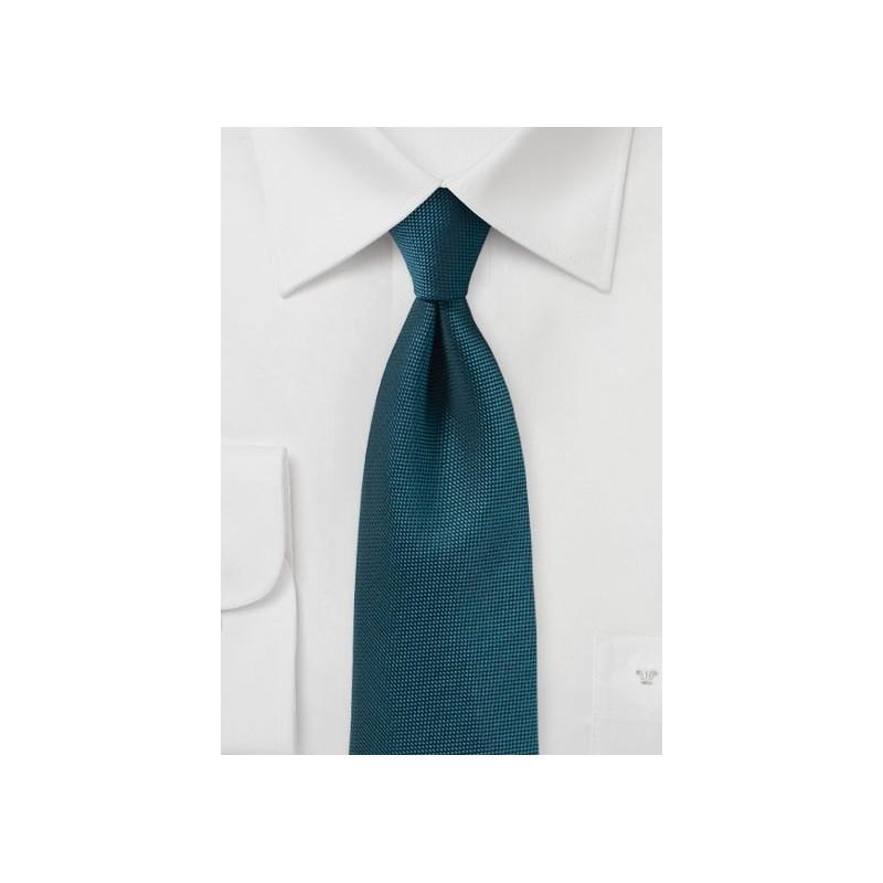 Teal Matte Finish Tie