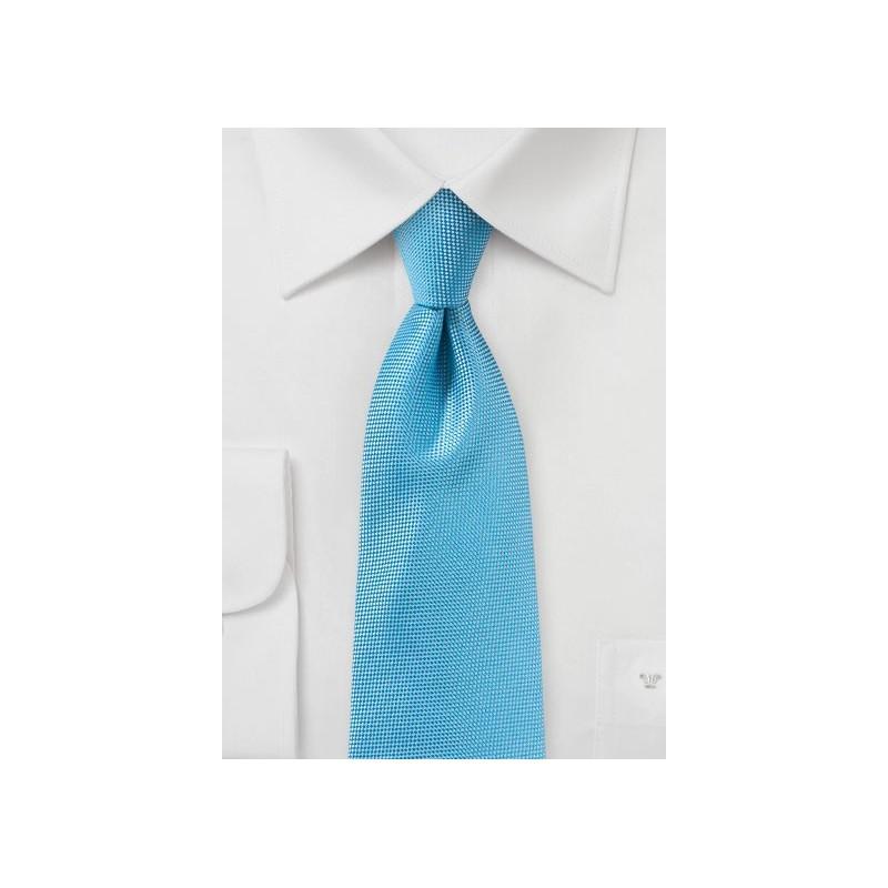 Cyan Blue Matte Woven Tie