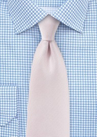 Matte Texture Necktie in Blush