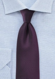 Matte Tie in Grape