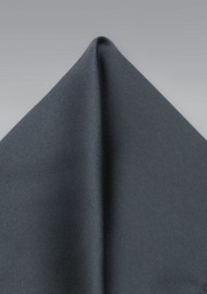 Dark Gray Satin Finish Pocket Square