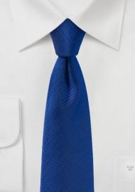 Slim Cut Tie in Sapphire Blue