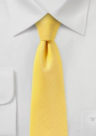 Canary Yellow Skinny Tie