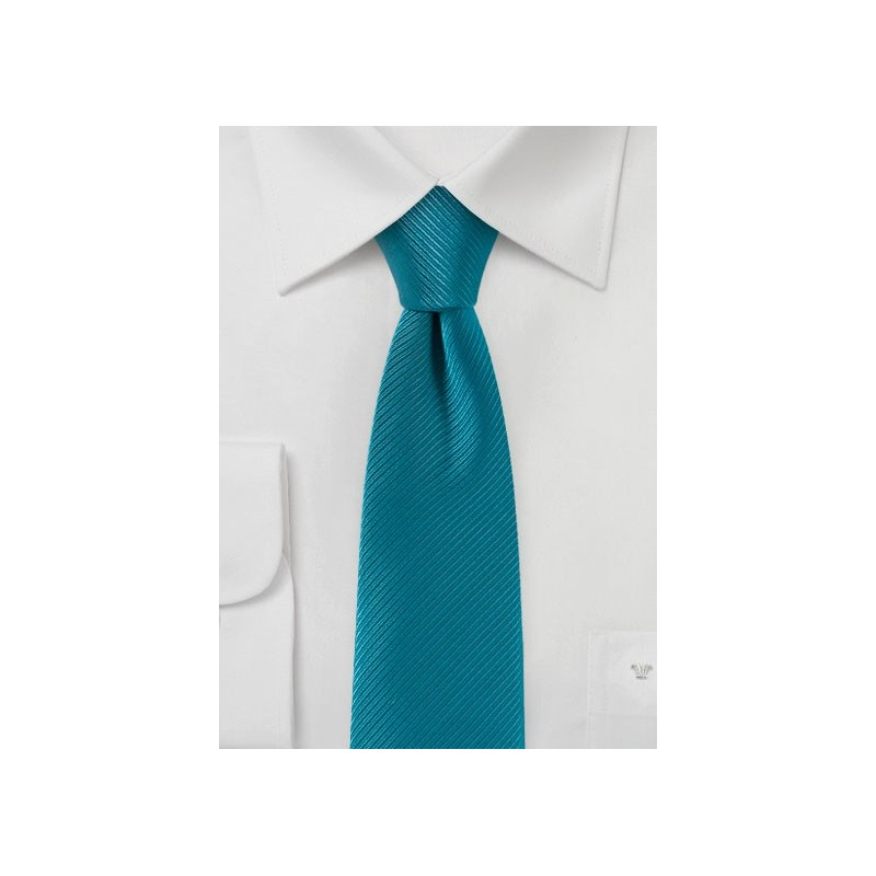 Slim Cut Wedding Tie in Bright Turqoise