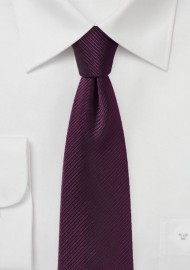 Wine Red Skinny Tie