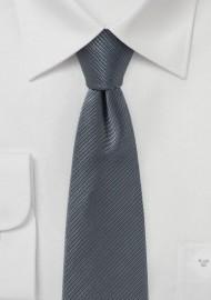 Aluminum Gray Skinny Tie