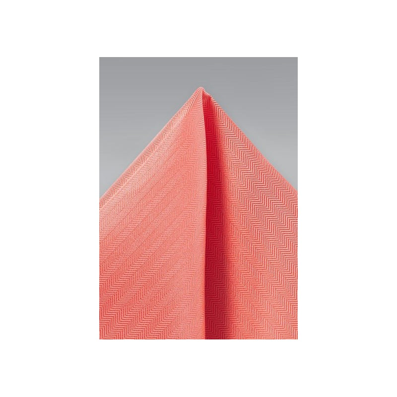 Matte Hanky in Neon Coral