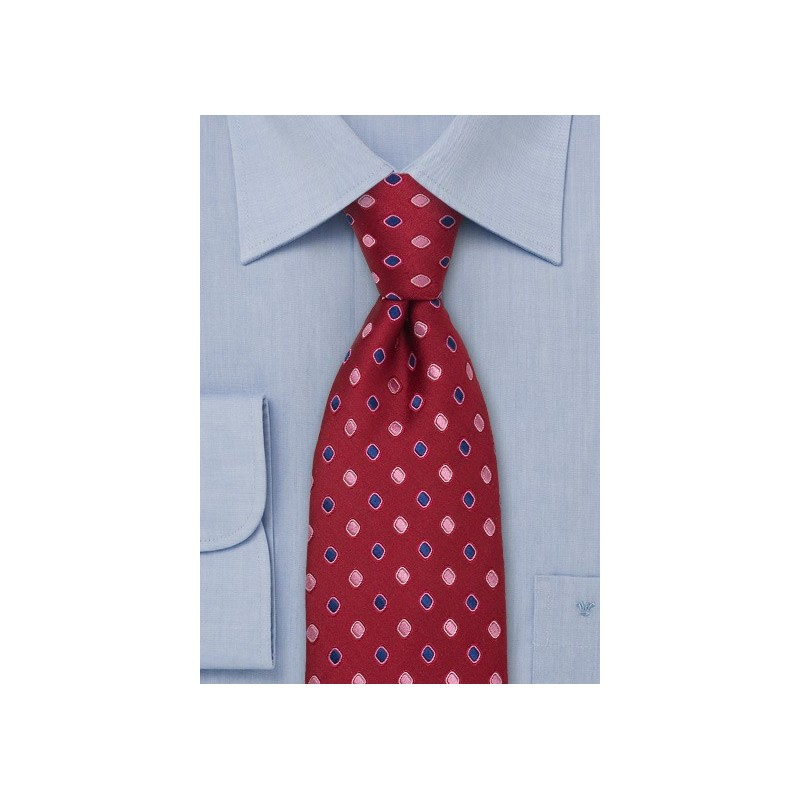 Cherry Red Designer Tie by Tino Cosma