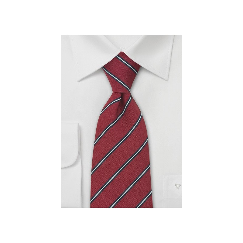 Burgundy Regimental Tie by Atkinsons