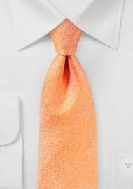 Matte Silk Tie in Tangerine