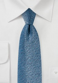 Blue and Aqua Textured Designer Tie