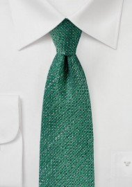 Kelly Green Tie in Recycled Yarn