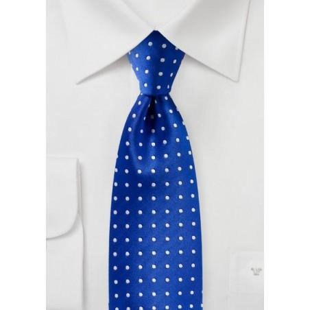 Bright Horizon Blue Polka Dot Tie