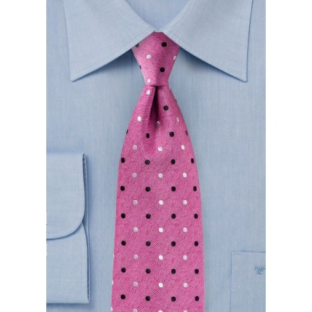 Fun Polka Dot Tie Very Berry Pink