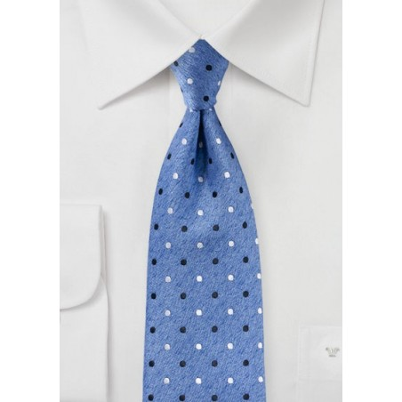 Polka Dot Tie in Parisian Blue
