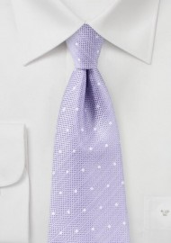 Heirloom Lilac Polka Dot Tie