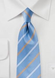 Repp Stripe Tie in Bonnie Blue