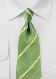 Foliage Green Striped Tie