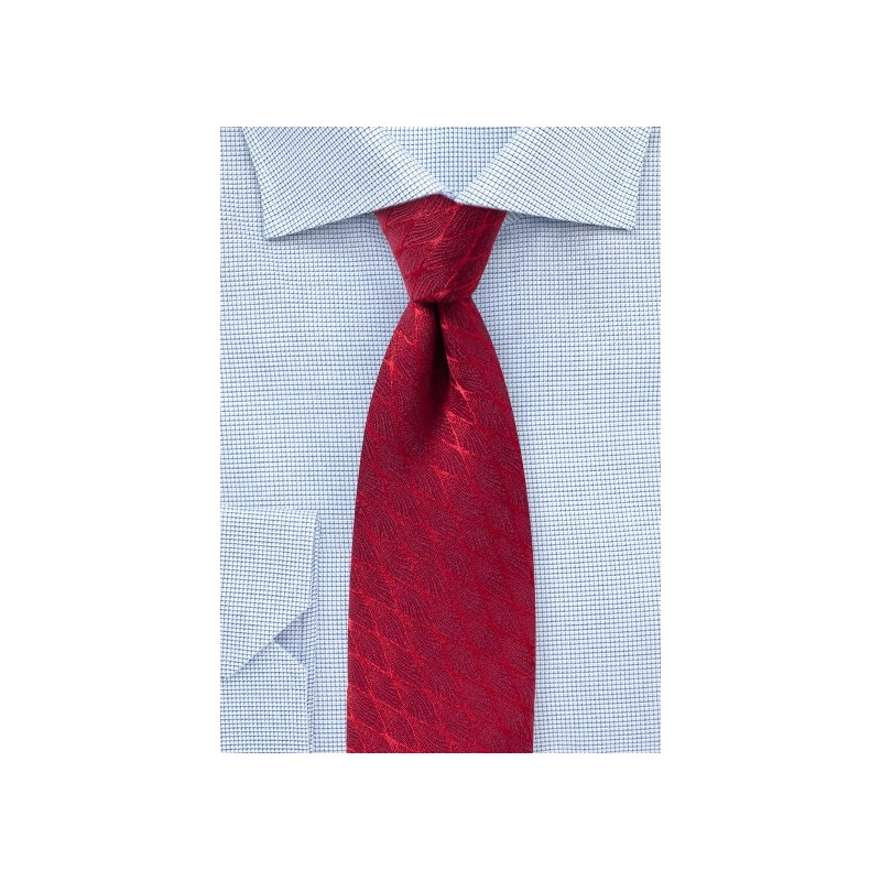Chevron Check Wool Designer Tie