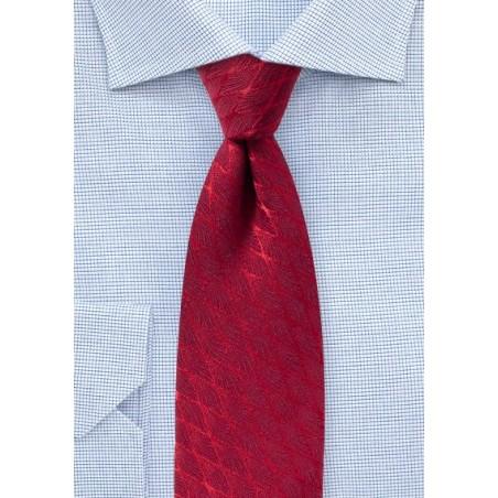 Chevron Check Wool Designer Tie