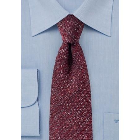 Burgundy Textured Designer Tie