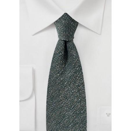 Dark Olive Green Tie in Recycled Yarn