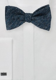 Textured Weave Bow Tie in Dark Blue