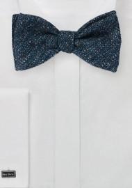Textured Weave Bow Tie in Dark Blue