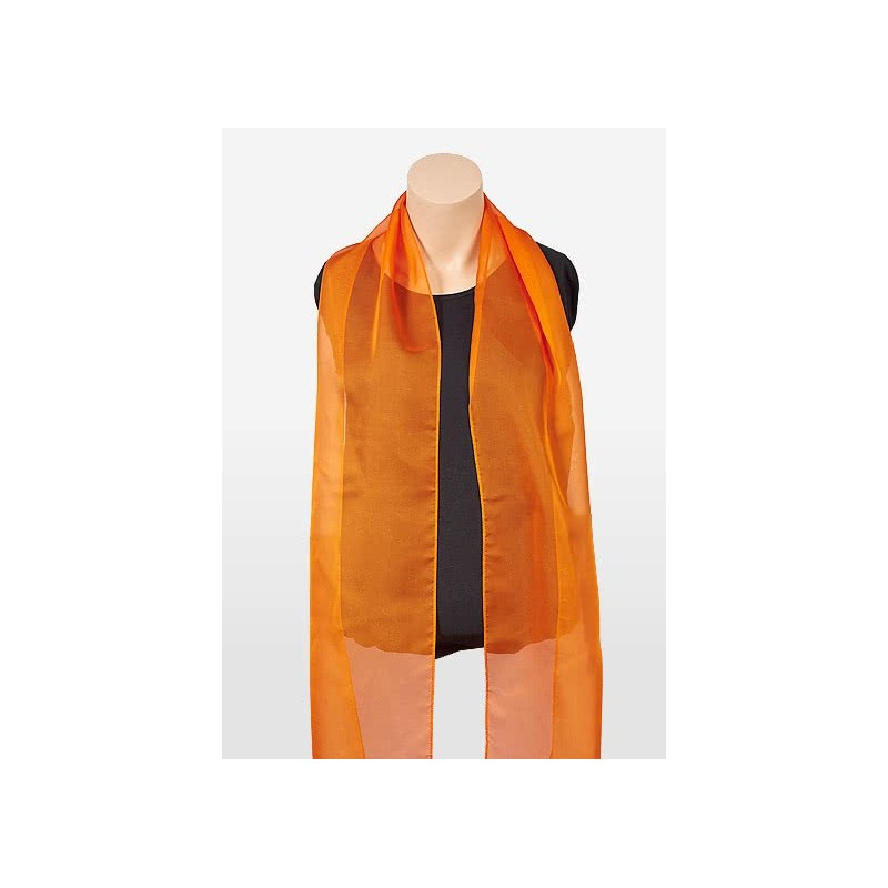 Bright Orange Chiffon Fabric Scarf