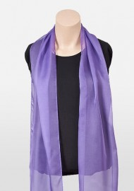 Freesia Purple Chiffon Scarf