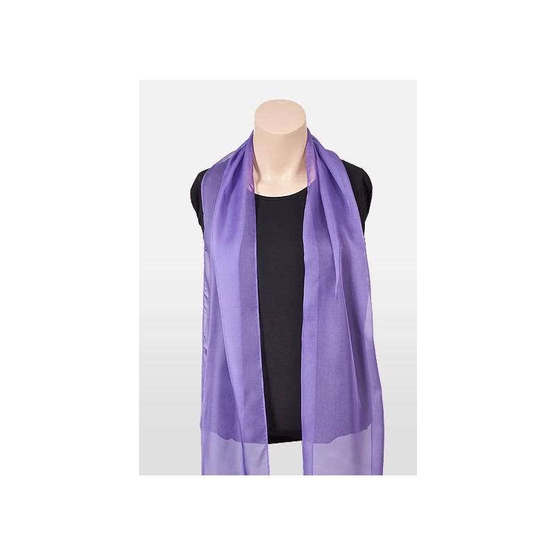 Freesia Purple Chiffon Scarf