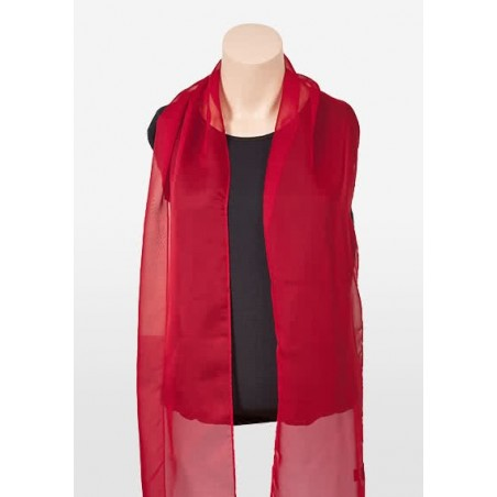 Bright Red Scarf in Chiffon