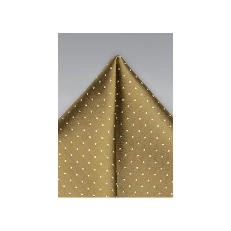 Buddha Gold Polka Dot Pocket Square