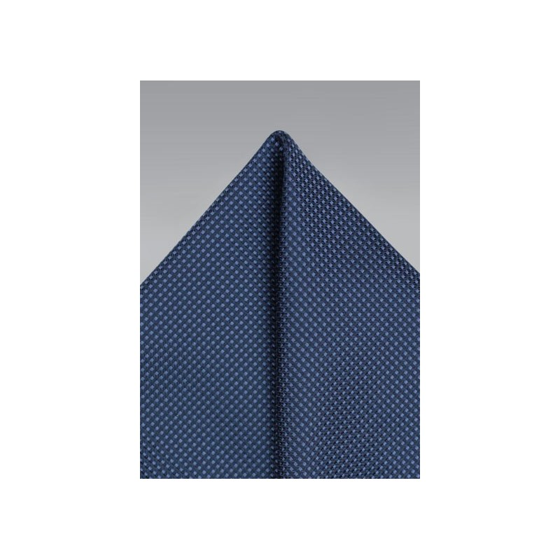 Grenadine Texture Pocket Square in Navy