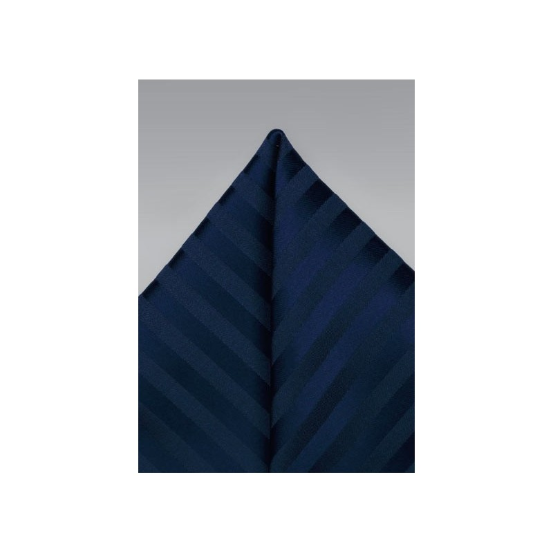 Navy Stripe Pocket Square