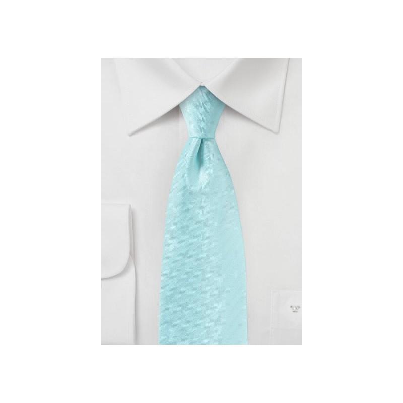 Pool Blue Textured Tie