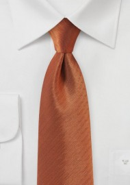 Herringbone Tie in Burnt Orange