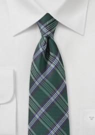 Tartan Plaid Tie in XL Length