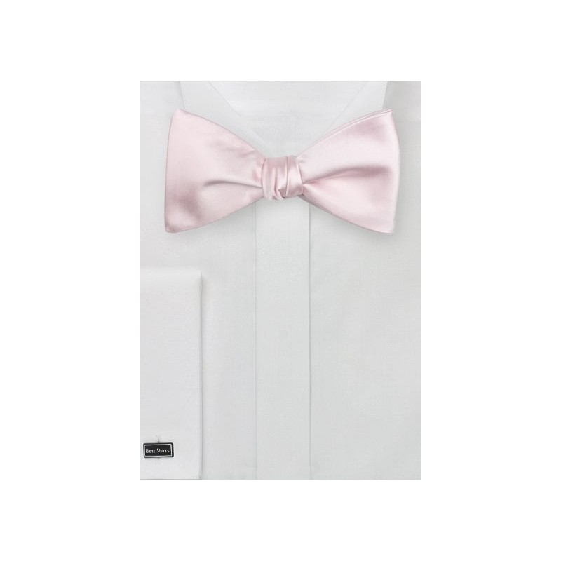 Elegant Self Tie Bow Tie in Blush