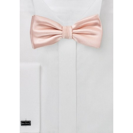 Kids Bow Tie in Peach Blush