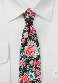 Loud Floral Print Tie on Cotton
