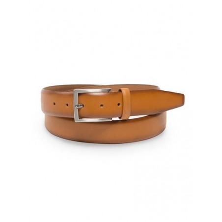 Elegant Dress Belt in Cognac Brown