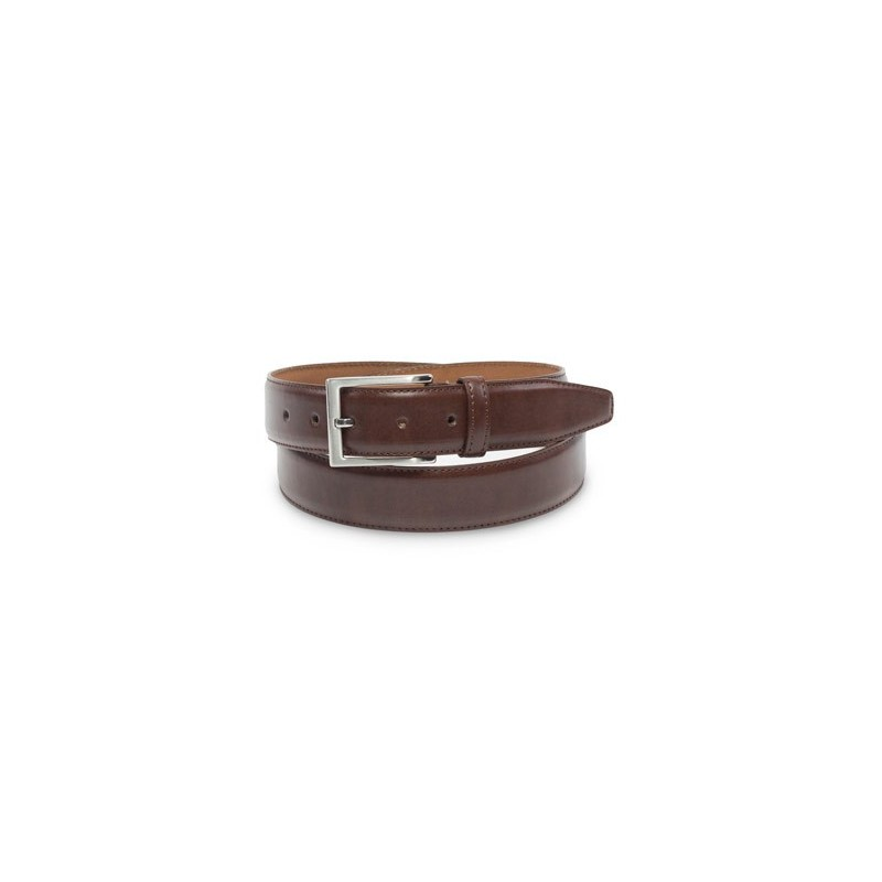 Classic Dress Leather Belt in Dark Brown