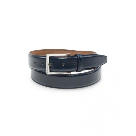 Classic Dress Leather Belt in Dark Navy